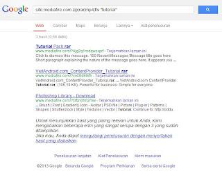 trick cara mencari data di google
