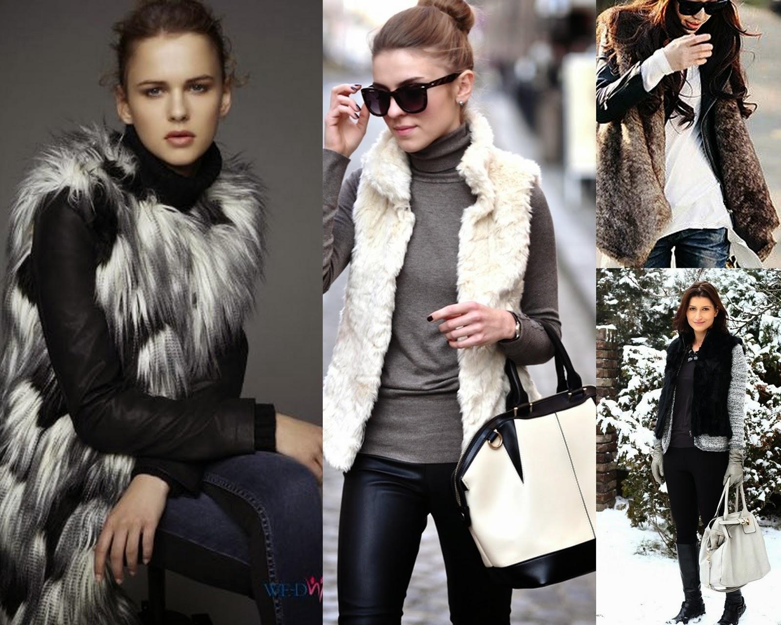 Zimowe stylizacje - FUTRA