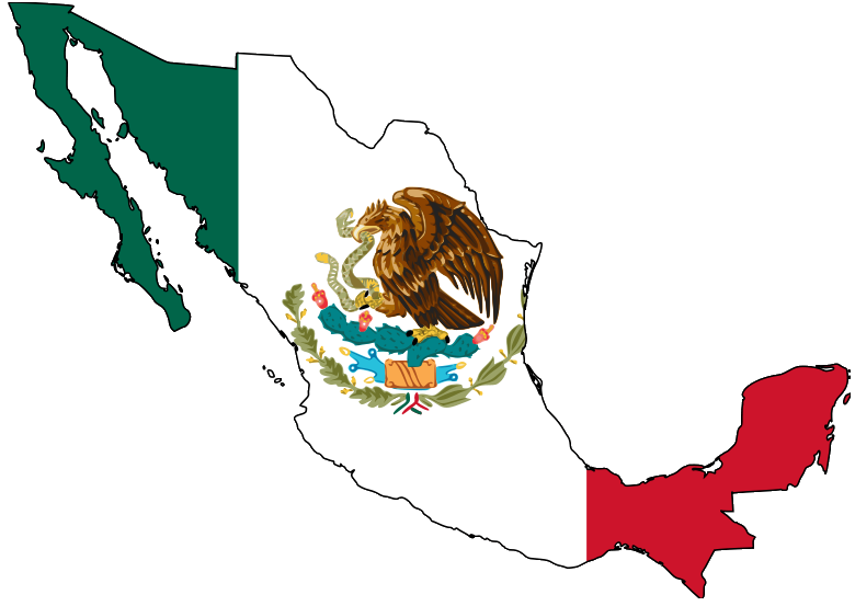 Mexico with flag
