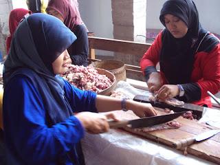 Pemotongan Hewan Qurban SMP Muhammadiyah 1 Kartasura