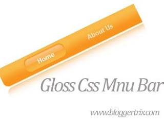 Glossy-css-menubar