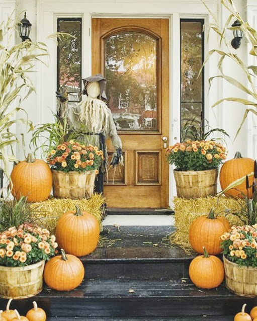 6 fall porch decor ideas b a s blog for Outdoor brunch decorating ideas