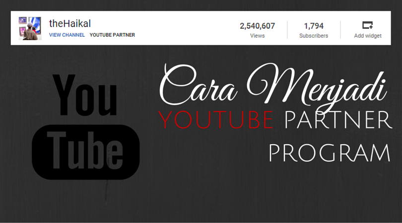 Cara Menjadi Youtube Partner Program