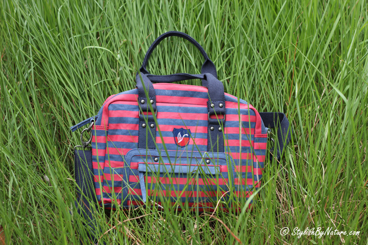 Affordable Bag, Stripes Tote, Canvas Bag, College Girl Bag, Pool Party Bag