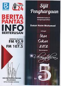 Tokoh Ikon Sukan Bernama Radio 24