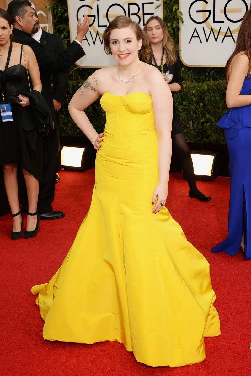 Golden Globe Lena Dunham