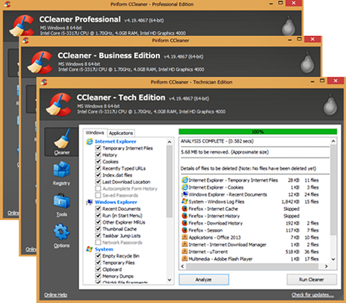 CCleaner v4.19.4867 Pro+Business+Technician Edition