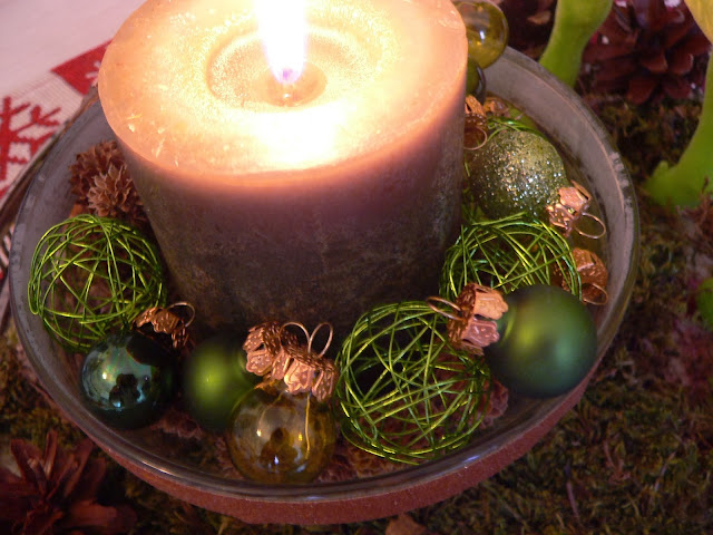 Weihnachten Kerze Kugeln