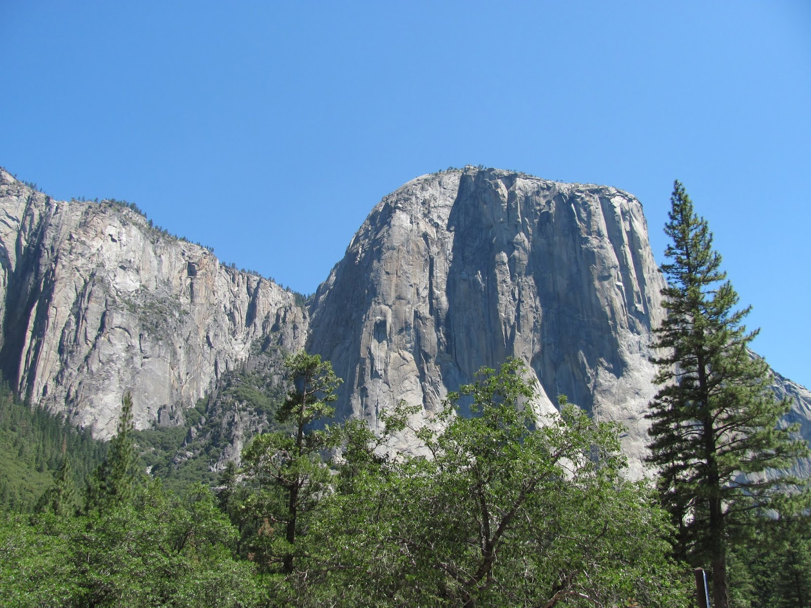 El Capitan, the granite monolith rises above the valley floor at Yosemite National Park, California