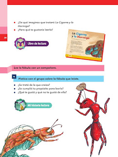 Apoyo Primaria Español 2do grado Bloque 1 lección 11 La Cigarra y la Hormiga