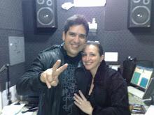 Wilson Sideral nos estudios da Radio Circuito das Águas FM