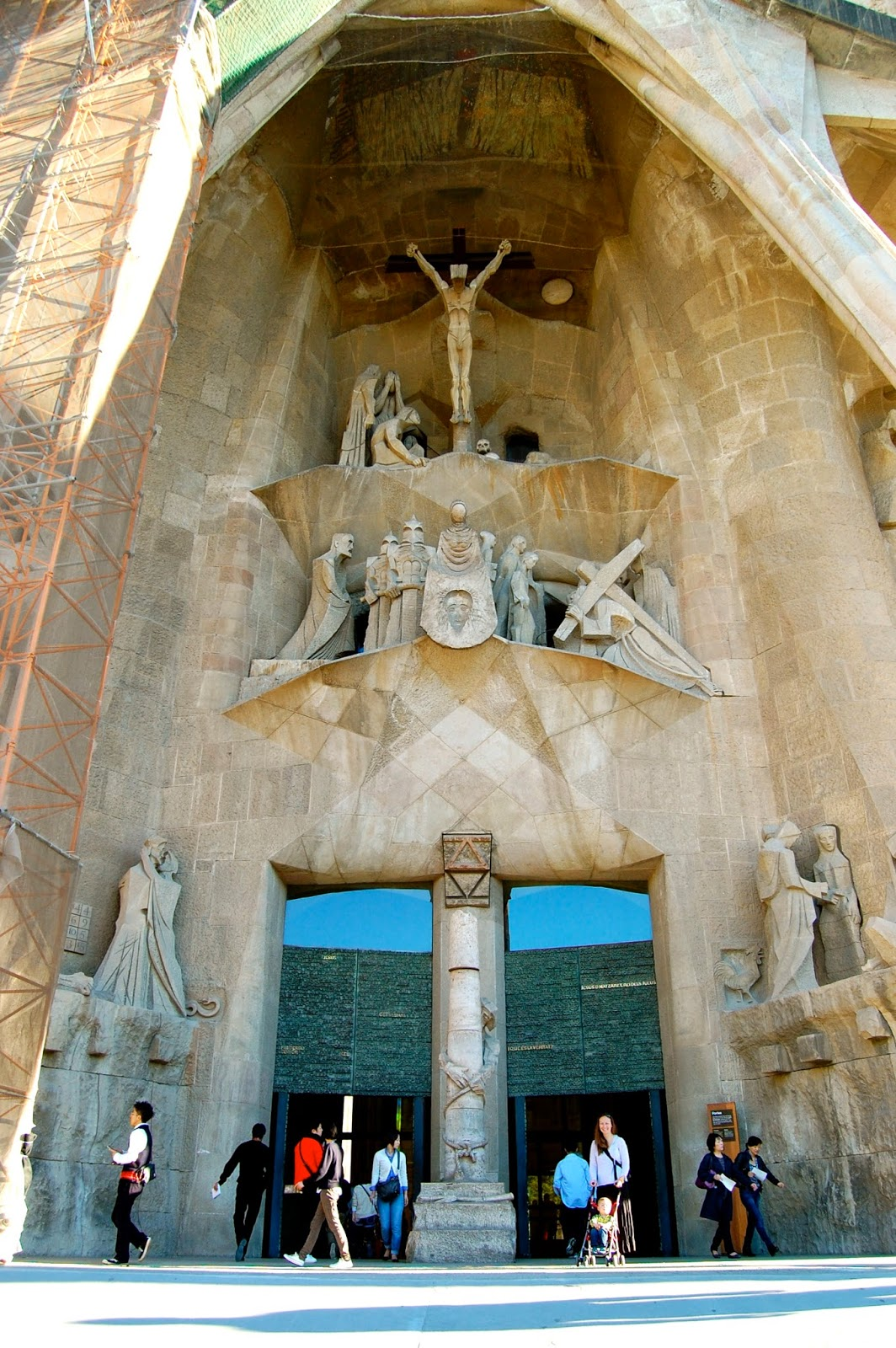 The central portal of the Passion Facade on the Sagrada Familia