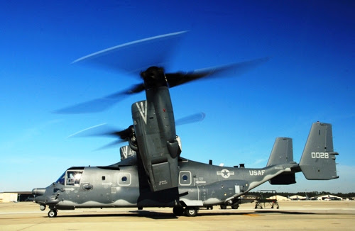US Air Force CV-22 Prey Helicopter ~ HOT WEAPON Blogspot.com M110 Sniper Rifle Suppressed