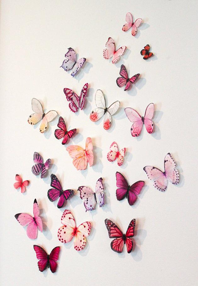 El taller de troco mariposas en la pared - Mariposas en la pared ...