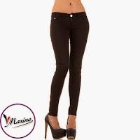Jeansi skinny, de culoare neagra, cu talie joasa ( )