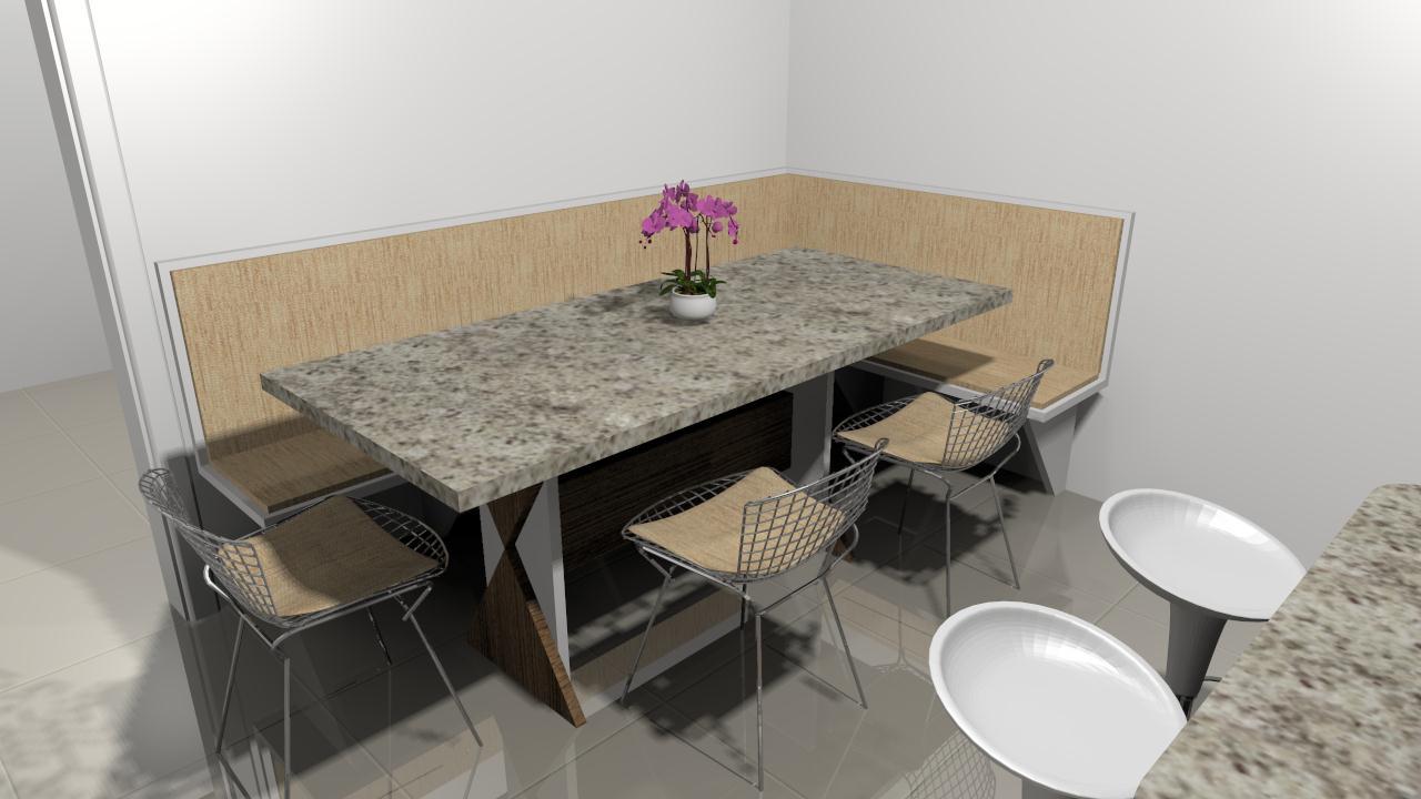 Inovar Ambientes Cozinha Com Mesa E Bancada