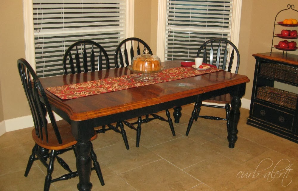 Curb alert my new kitchen farm table wood refinishing project - Refinishing a kitchen table ...