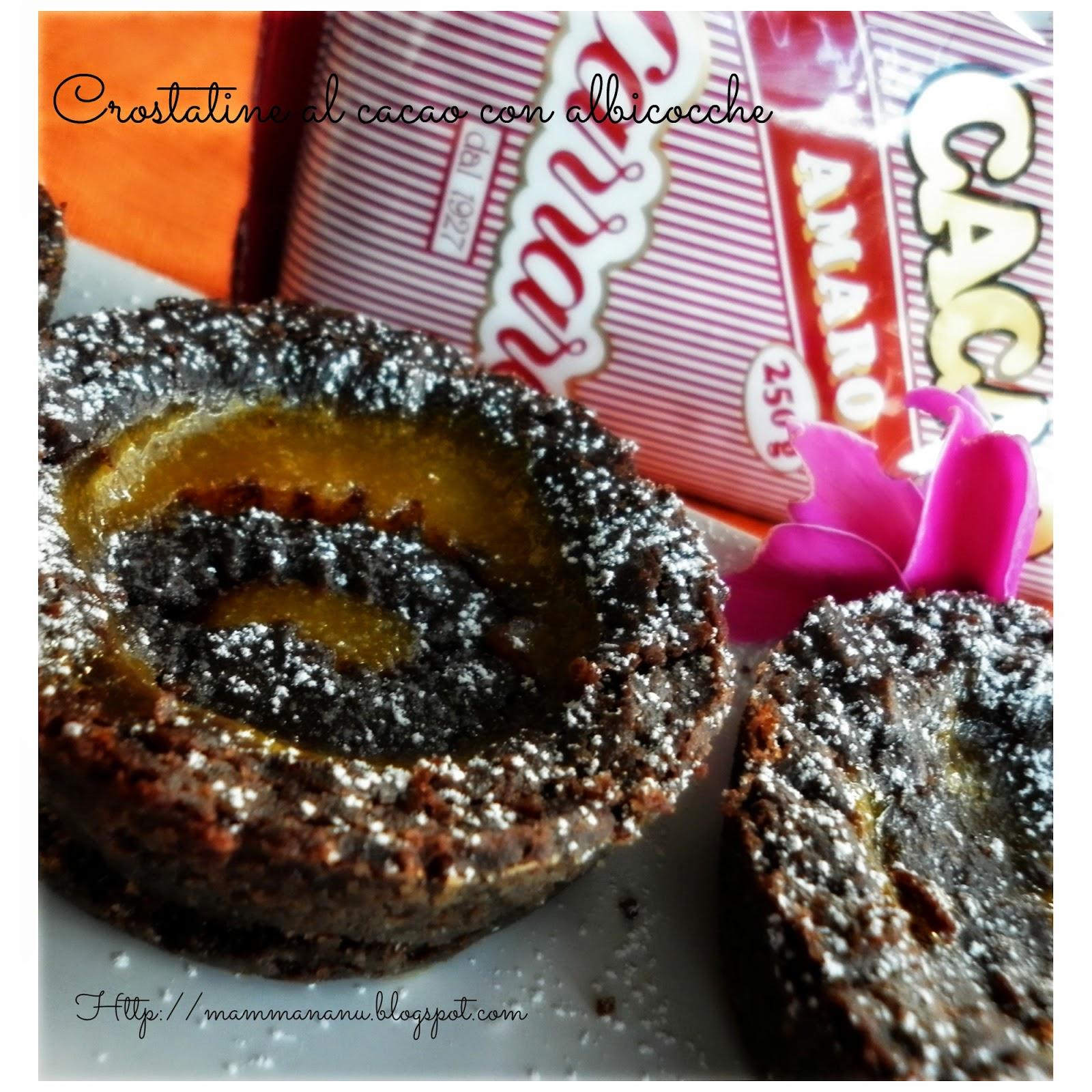 crostatine al cacao con albicocche