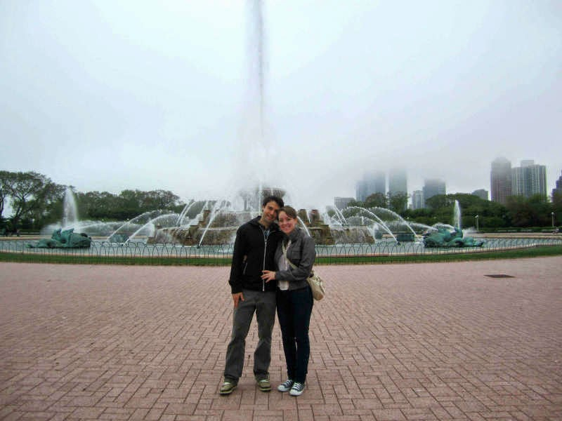 Visiting Buckingham Fountain in Chicago