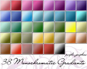 gradientes monocromatico