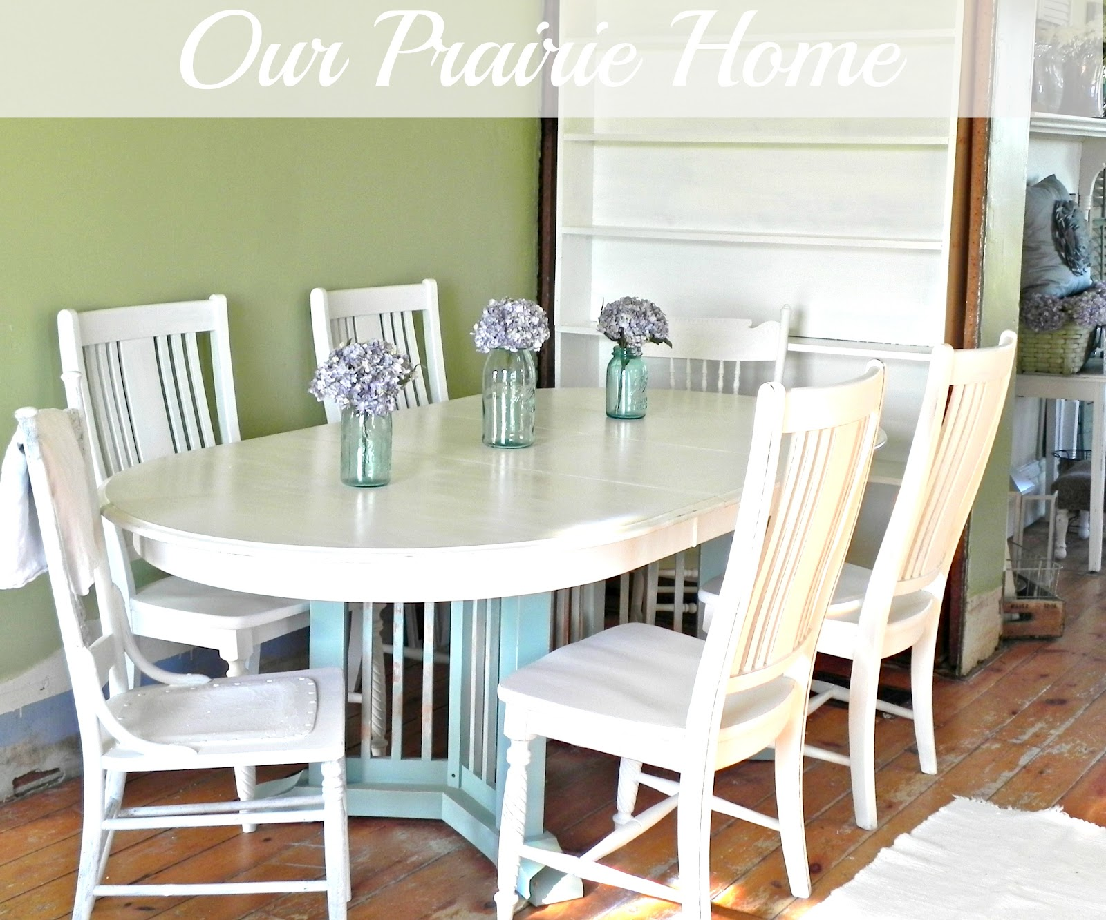 Chalk painted kitchen tables - Our Prairie Home Homemade Chalk Paint Recipe Chalk Paint Kitchen Table