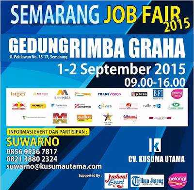 Job Fair Semarang Terbaru - September 2015