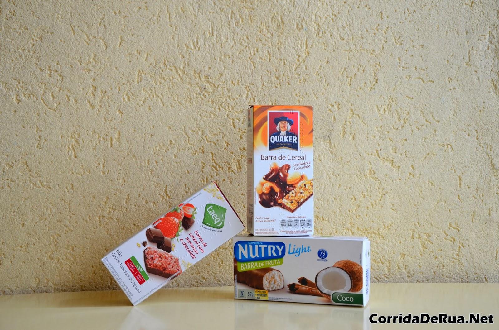 Barras de Cereal: Taeq, Quaker e Nutry - Corrida de Rua