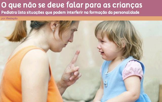 10 coisas que não se deve dizer a uma criança