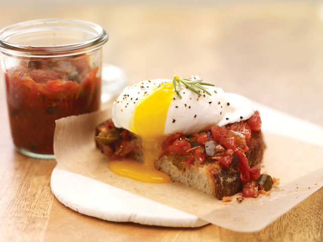 McCormick Flavor Forecast 2013 Rosemary Smoked Tomato Jam and Poached Eggs