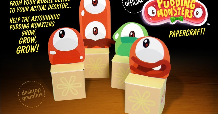 Pudding Monsters Papercraft