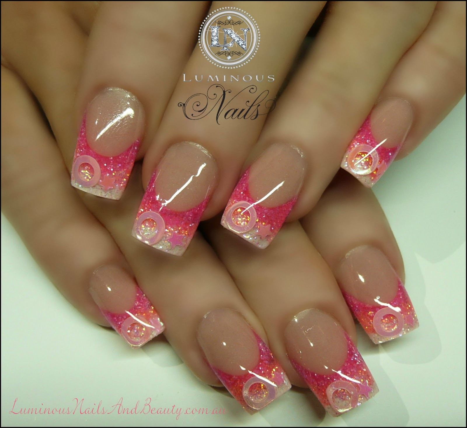 Pink White Acrylic Nails – ledufa.com