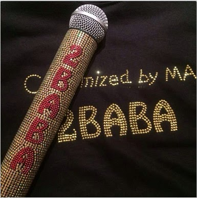 Money No Be P.. See 2 Face's  Diamond Gold Stone And Platinum red Stone Custom-made Wireless Microphone
