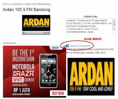 Mendengarkan Radio via Facebook