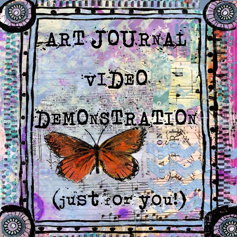 art journal page video demonstration on http://schulmanart.blogspot.com/2014/07/art-journal-pages-video-demonstration.html