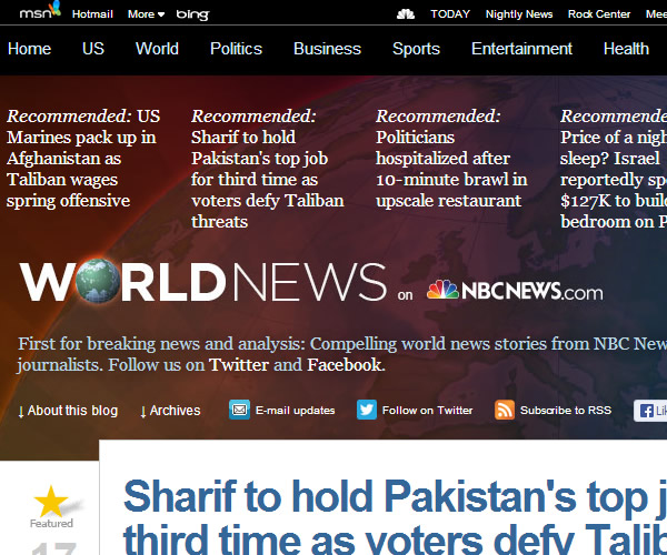 World News : NBC News