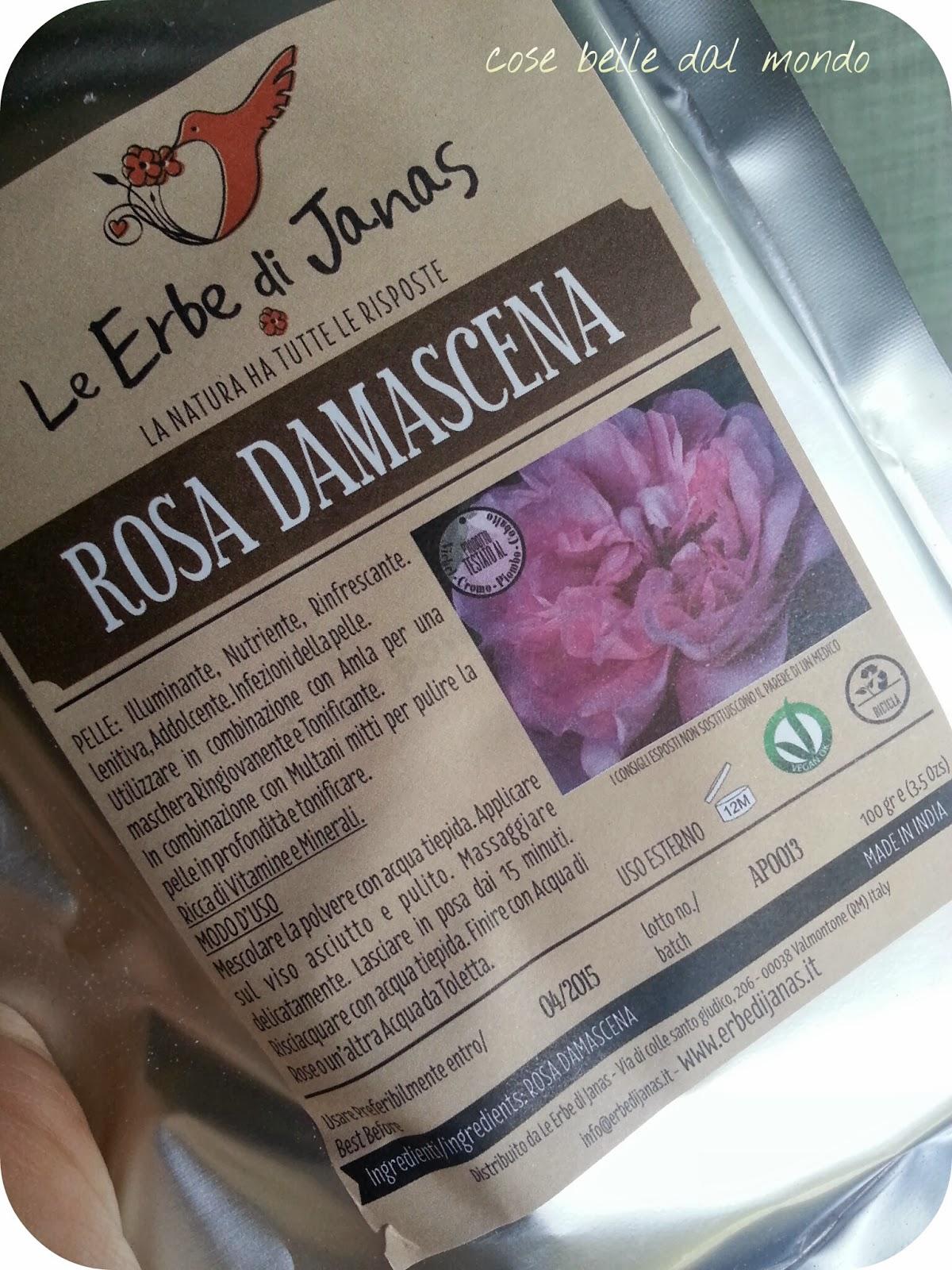 Cose belle dal mondo le erbe di janas rosa damascena for Cose belle dal mondo