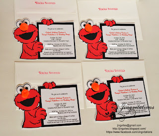 Elmo birthday party invitations