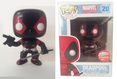 Fugitive Toys Exclusive Inverse Deadpool Pop! Marvel Vinyl Figure by Funko