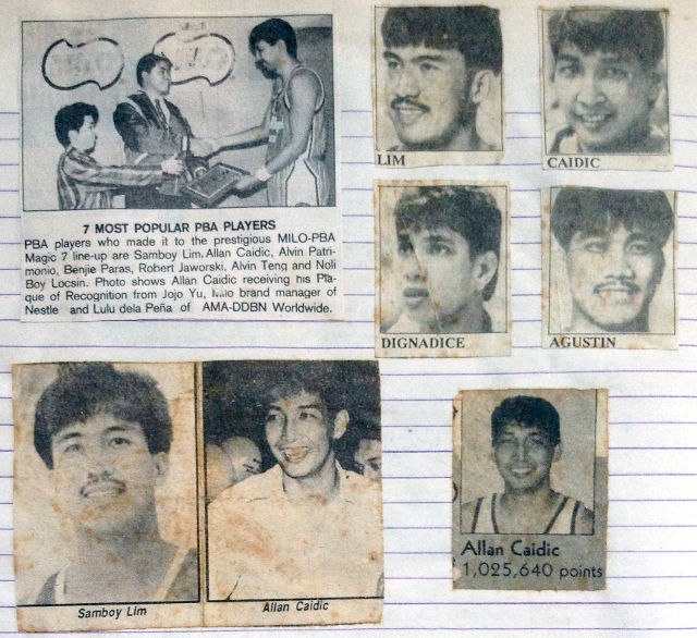 90s San Miguel Beermen - Samboy Lim, Allan Caidic, Ato Agustin, Yves Dignadice