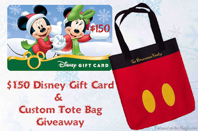 Focused on the Magic $150 Disney Gift Card Mickey Tote Giveaway