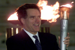 Romney with Olympic torch