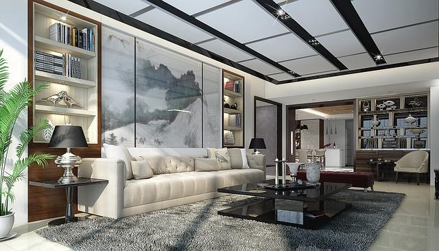Desain Ruang Tamu Futuristik