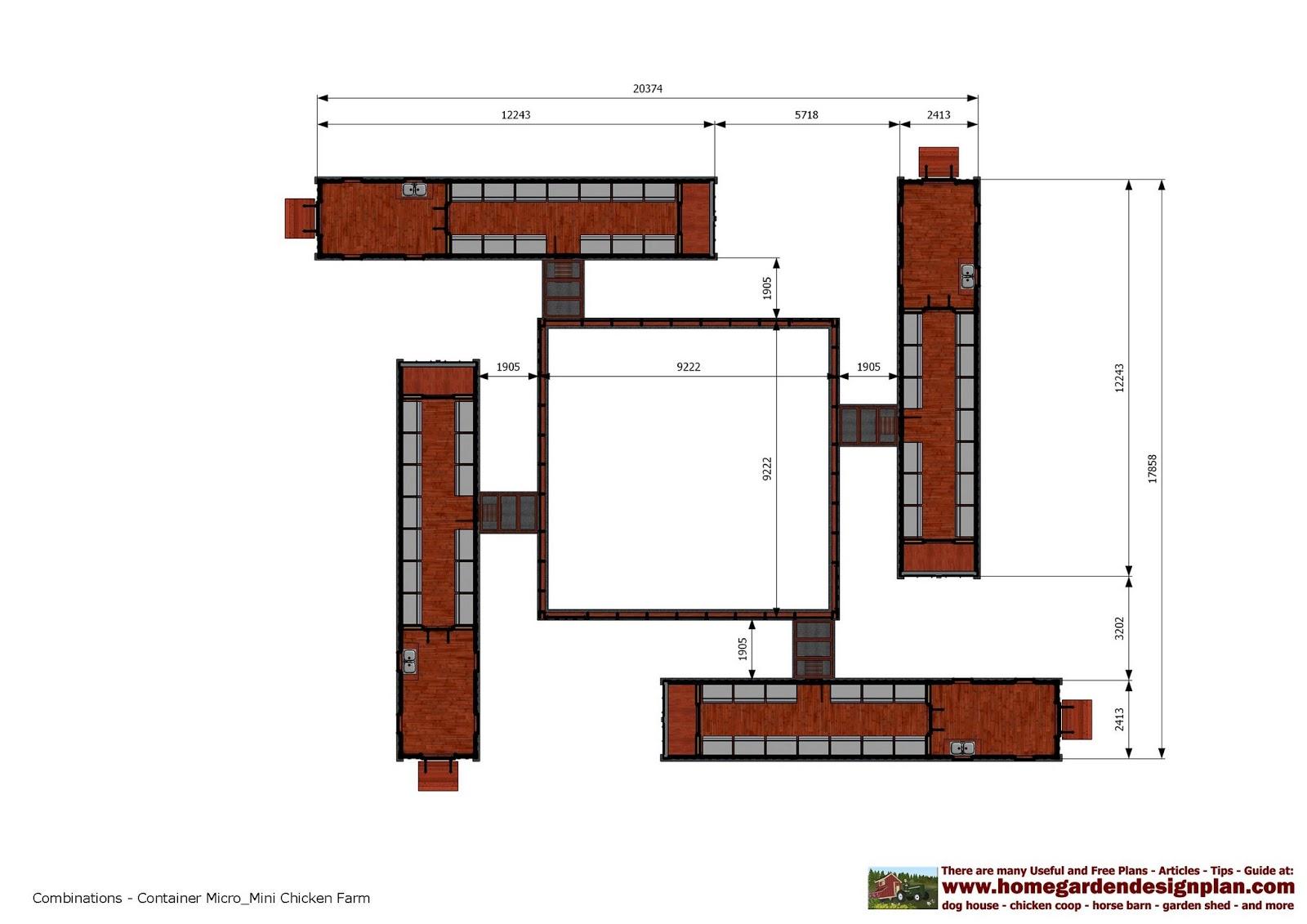 Home garden plans cn200 1 40 feet container chicken farm for Farm plan