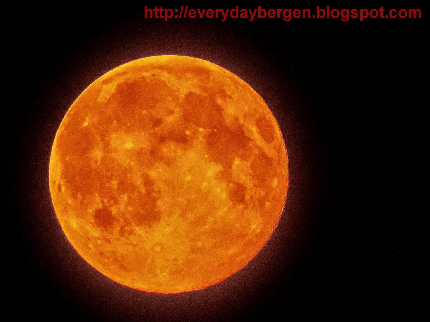 Super moon over Bergen.