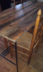 Steel craftsman barn wood table
