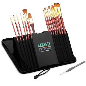 Santa Fe Art Supply Artist Brush Set Review