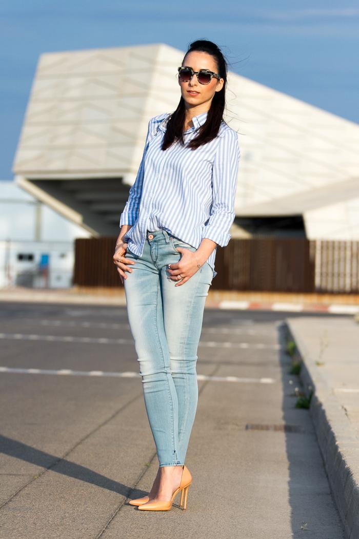 Striped shirt Masculine or Feminine? | With Or Without Shoes - Blog Influencer Moda Valencia Espau00f1a