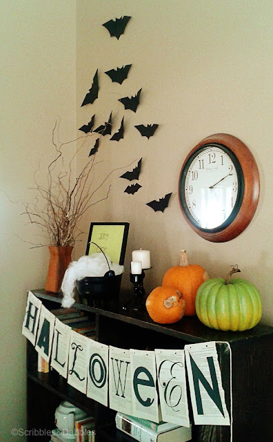 Halloween Vignette at Scribbles and Dabbles