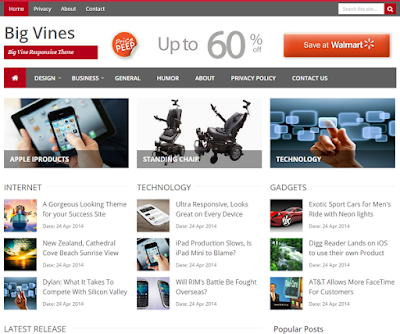 BigVines Responsive Blogger Template