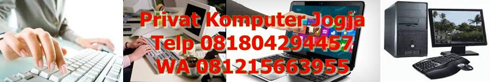 Privat Komputer Administrasi Kantor Guru Ke Rumah atau Kantor